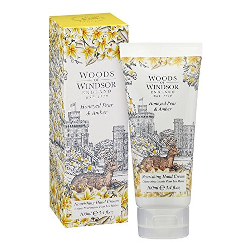 Woods of Windsor Honeyed Pear & Amber Crème Mains 100 ml