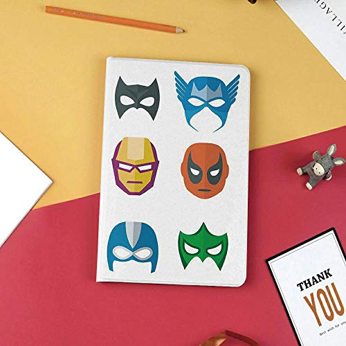 BESS iPad Mini 5 Case 2019,Premium Case with Strong Protection,Ultra Slim Soft TPU Back Cover with Auto Sleep/Wake Function for New Apple iPad Mini 5th Gen,Superhero,Hero Mask Female Male Costume Powe