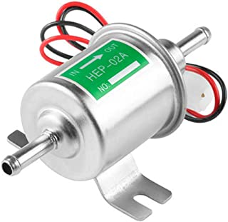 Universele Automotive modified HEP-02A 12 V Heavy Duty elektrische brandstofpomp metaal voor benzine en diesel (zilver)