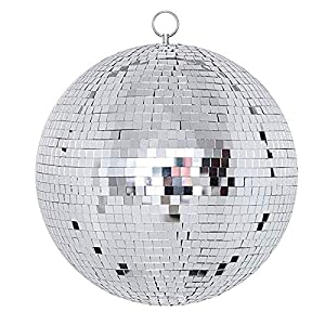 "NuLink 12"" Disco Light Mirror Ball with Hanging Ring"