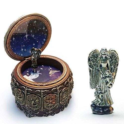 TANGIST Caja de música de 12 constelaciones de Géminis, decoración única, iluminación colorida, artesanía, creativa, novedad, regalos de cumpleaños, música pura, elegante y hermosa