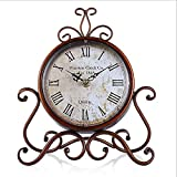 Antique Mantel Clocks Battery Operated,Small Vintage Table Clock for Living Room,Bedroom,Coffee Table,Desk Table,End Table and Fireplace