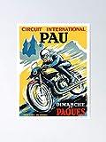 AZSTEEL 1950 Pau French Grand Prix Motorcycle Race - Póster