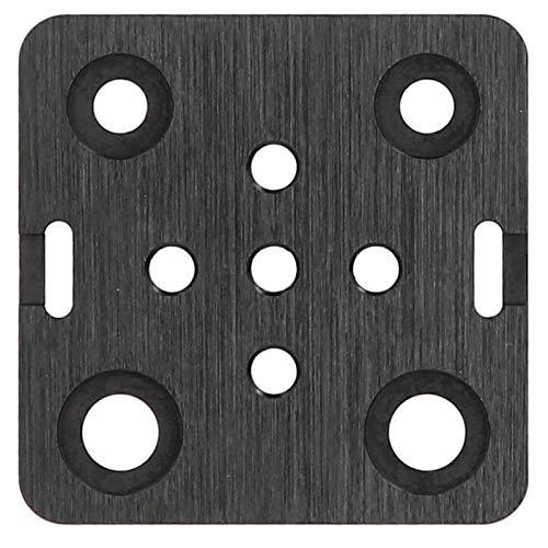 Jeanoko Mini V Wheel Construction Board Folding Grooves Mini V Wheel Mounting Plate 3D Printer V Wheel Mounting Plate Corrosion-resistance Fit for Openbuilds 3D Printer
