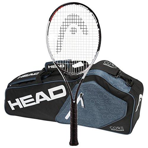Head 2017 Graphene Touch Speed Pro Strung, racchetta da tennis con 3 borse per racchette (4-5/8)