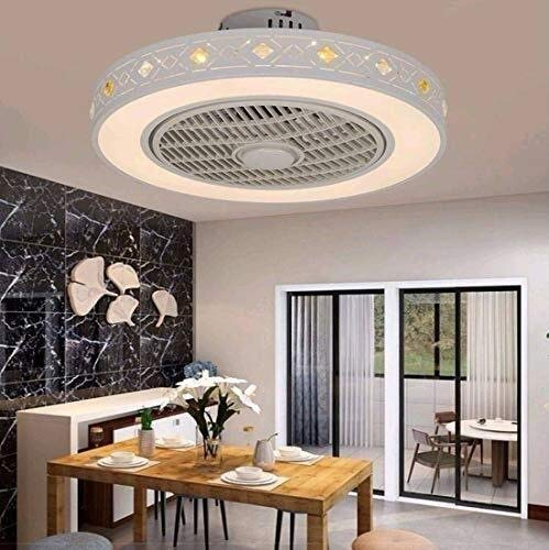 DLGGO Ventilador Ventilador de techo LED de luz de la lámpara de 40W moderno techo con iluminación, control remoto, regulable ajustable Ventilador silencioso de la lámpara del techo del dormitorio del