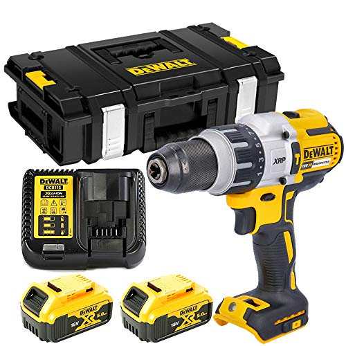 DCD996 18V BL Combi Drill with 2 x 5.0Ah Batteries, Charger & DS150 Case