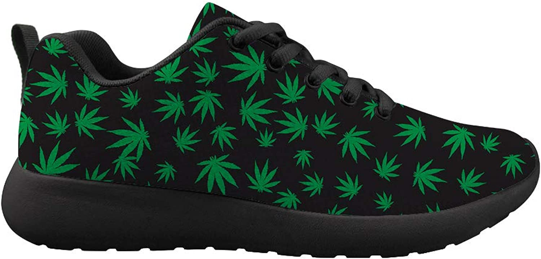 Oaheson Cushioneng Sneeaker Trail springaning skor herr kvinnor Weed Weed Weed Marijuana Leaves  här har det senaste