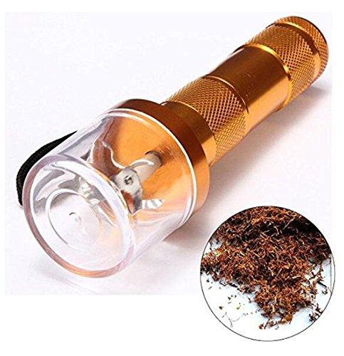 Molinillo de metal de aleación eléctrica, manivela para tabaco, humo, especias, hierbas, color dorado