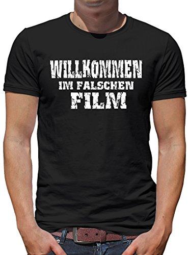 TShirt-People Willkommen im falschen Film T-Shirt Herren XL Schwarz