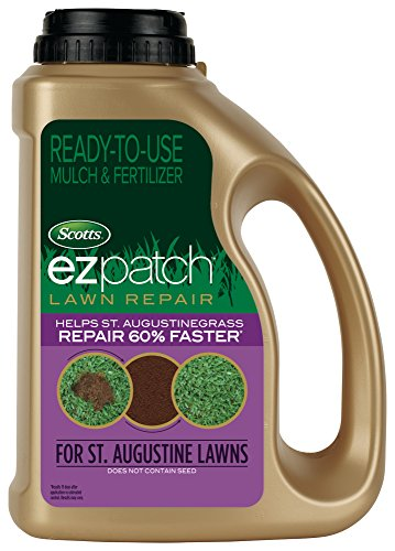 Scotts EZ Patch Lawn Repair For St. Augustine Lawns - 3.75 lb., Ready-to-use Mulch, and Fertilizer...