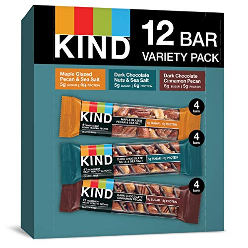 KIND Bars, Nuts and Spices Variety Pack, Gluten Free, Low Sugar, 1.4 Ounce Bars, 12 Count, New Version