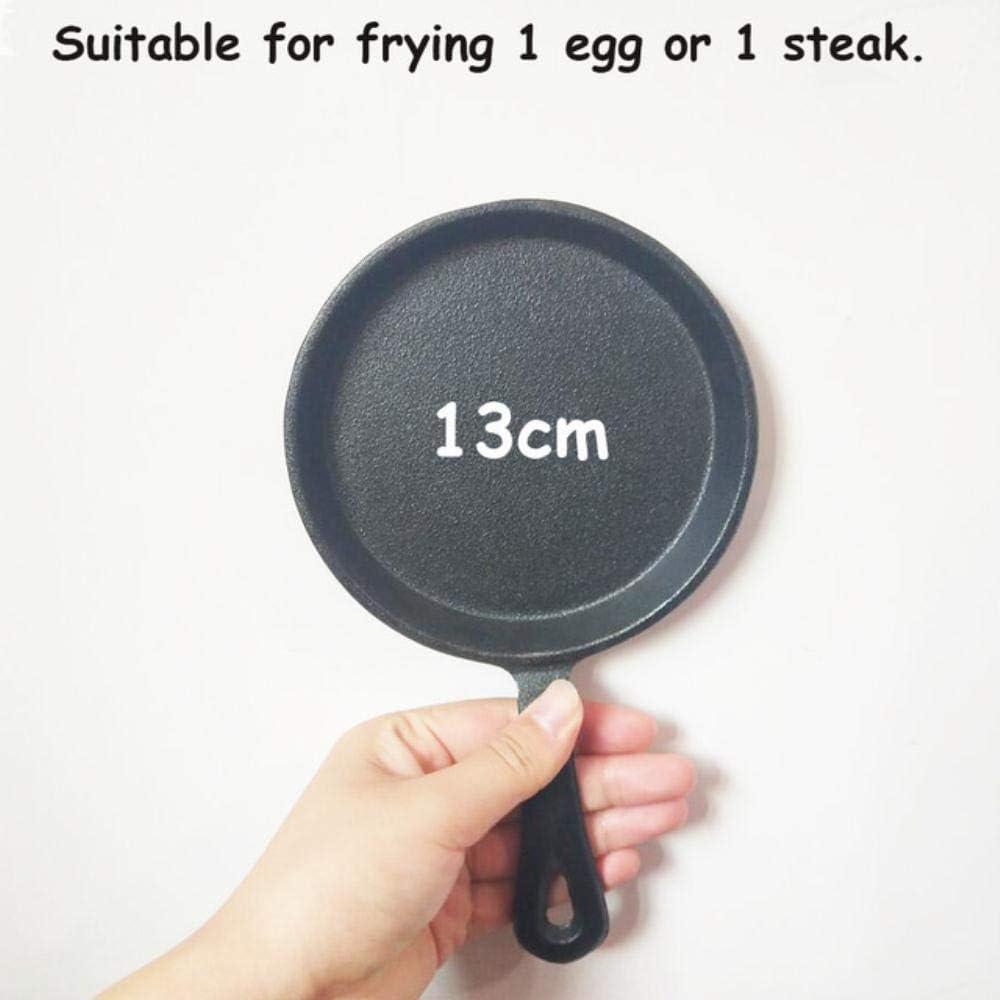 Yxxc 13cm / 16cm / 20cm poêle à Frire antiadhésive Fonte épaissie Omelette Steak Minute Cooker poêle antiadhésive, 20cm 16cm