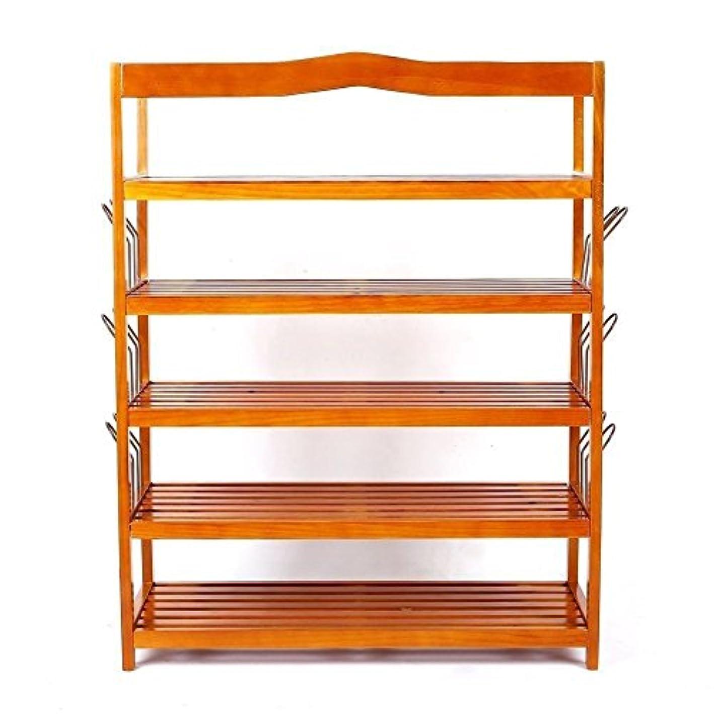 TimmyHouse Shoe Rack Organizer 5 Tiers Storage Shelf Wood Home Closet Dorm Room Entryway