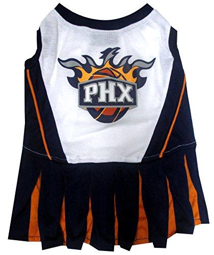 Pets First NBA Phoenix Suns Dog Cheerleader Dress, Medium