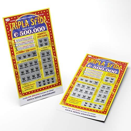 BE TECH - Gratta e Vinci Tripla Sfida per Uno Scherzo Molto Divertente - tra i 2 Biglietti Uno Solo è Vincente da 150.000 € con Il Numero Bonus - Ideale per Una Serata indimenticabile