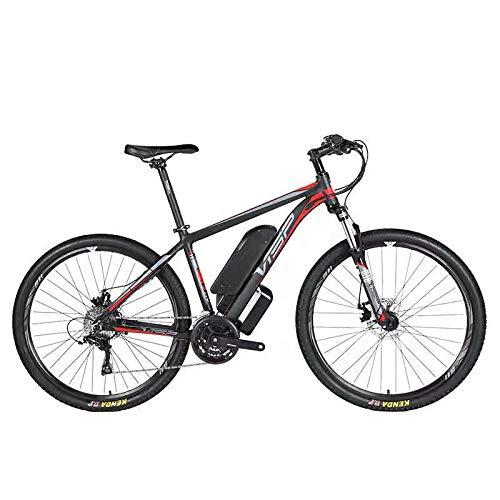 HJHJ Bicicleta de montaña eléctrica, batería híbrida de Litio 36V10AH (26-29 Pulgadas) Bicicleta para Nieve 24 líneas tracción mecánica del Disco línea mecánica de Freno de Disco,Red,29 * 19in