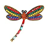 Toruiwa 1X Broches de bisuteria Broches de Ropa Broches para Vestidos Joyeria Antigua Vintage Mujer Broche Colorido de Insectos 4.6 * 4.5cm