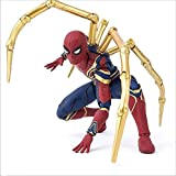 Iron Spiderman Marvel Avengers 3 Infinite Wars, Modelo Práctico -16cm,A-16cm...