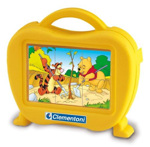 Clementoni - 40635 - Puzzle Pour Enfant - Baby Cubes 6 Pièces - Winnie L'Ourson