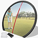 Yencoly Golf Training Aid Tool,Golf Wide Angle Mirror Full Swing & Putting Golf Training Aid Tool Golf Mirror Golf Wide Angle Mirror