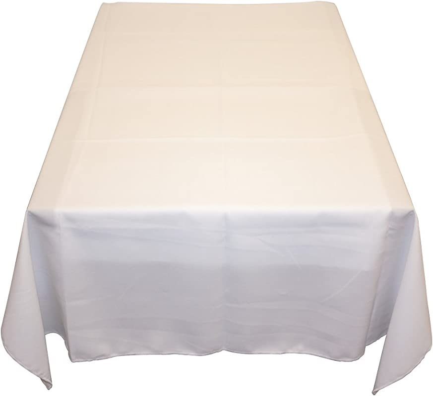Table In A Bag WHT6060 Square Polyester Tablecloth 60 Inch By 60 Inch White
