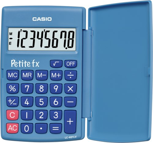CASIO LC-401LV-BU calcolatrice tascabile - Display a 8 cifre, di colore blu