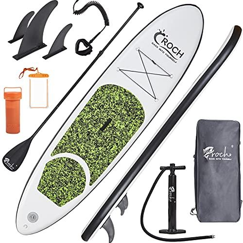 Planches de Stand Up Paddle Gonflables Adulte 150kg avec corde de sécurité Paddle et sac à dos...