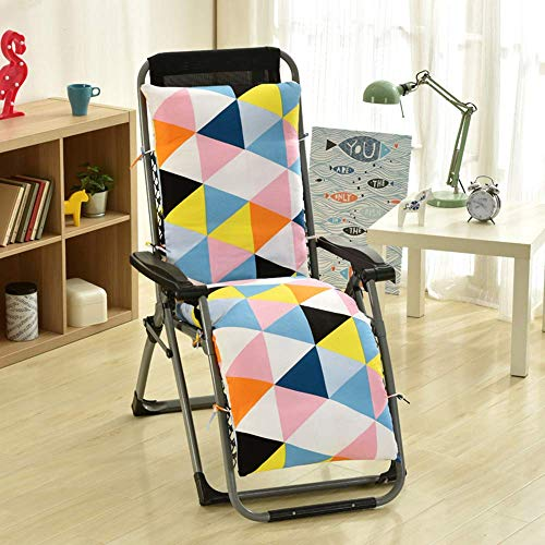 YLLN Sun Lounger Kissen - Tragbarer Garten Patio Polsterbett Recliner Relaxer Stuhl Sitzbezug für Reisen/Urlaub/Innen/Außen, A, 155 * 48 * 10CM