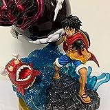 One Piece Monkey D Luffy Gear Terza testa modificabile Personaggio anime Personaggio dei cartoni animati Decorazione bambola Personaggio PVC Collezione di giocattoli per adulti Regalo di compleanno