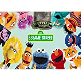 Photography Backdrop Newborn 7x5 Vinyl Sesame Street Background for Birthday Kids Party Banner Baby Shower Photo Background Supply Decoration Family Photographers Props