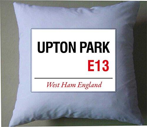 West ham Upton Park United London - Funda de cojín, diseño retro de bandera de Londres