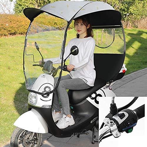 SHDT Motorrad Regen Abdeckung, Universal Motor, Roller, Radfahren Fahrrad Sonnenschutz Regen Abdeckung, Wasserdicht Regenschirm,B