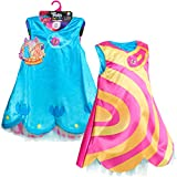 DreamWorks Trolls World Tour Roleplay Dress, Reversizble Dress Up Costume Set, Size 4 - 6X, by Just Play