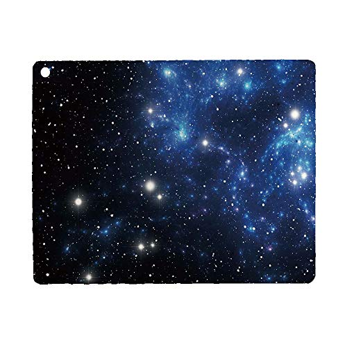 Bumina Constellation Case for iPad 9.7 2018 2017(6th Gen, 5th Gen)/iPad Air 2/iPad Air,PU Leather Case with Stand Function/Auto Sleep Wake Up Blue Black White