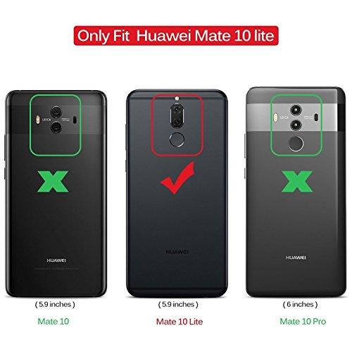 XTCASE Handykette kompatibel mit Huawei Mate 10 Lite Handyhülle, Smartphone Necklace Hülle mit Band Transparent Schutzhülle Stossfest - Schnur mit Case zum Umhängen in Roségold - 2
