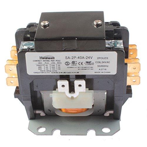 HOLDWELL SA-2P-40A-24V 2 Pole 40 Amp 24V Coil Definite Purpose Air Conditioner Contactor