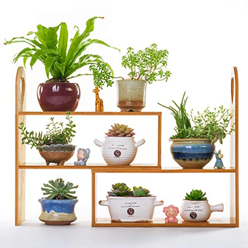 Xin Jardin Support De Fleur, Supports Multicouches Modernes Modernes Support D'affichage en Bambou De Mini-Usine Créative