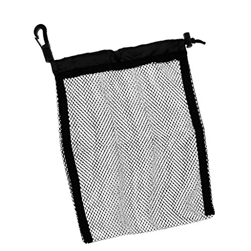 Seafard Drawstring Mesh Bag, Nylon Reusable Washable Scuba Diving Snorkeling Drawstring Pouch Storage Bags for Laundry, Gym,Swimming, Camping & Travel - 9x6.5in