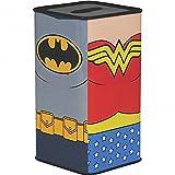 DC Comics - Hucha de hojalata, diseño de la Liga de la Justicia