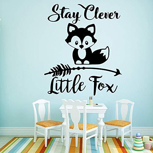 Little Fox Décoration de La Maison Acrylique Décoration Décoration de La Maison Chambre D'enfants Chambre D'enfants Décoration de La Maison Sticker Mural43X50 cm