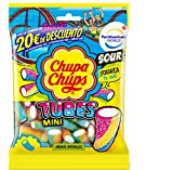 Chupa Chups Gomis, Golosinas de Sabor Frutal con Aromas Naturales, Bolsa de Tubos Ácidos ...