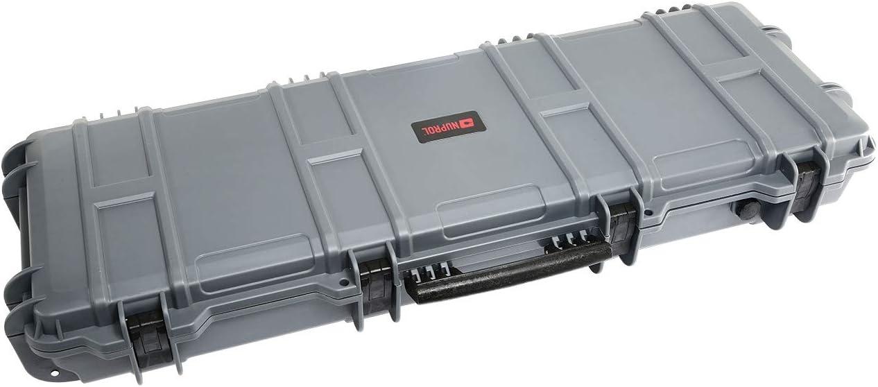 Nuprol Large Hard Case Gun Case Trolley 109 X 39 5 X 16 Cm Pnp Foam Grey Sport Freizeit