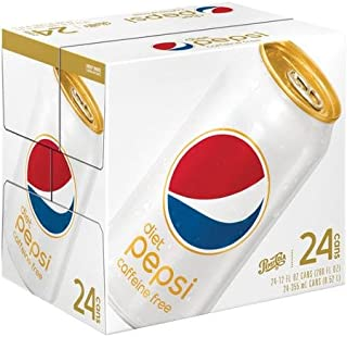 Pepsi Caffeine Free Diet Soda, 12 oz Can (Pack of 24)