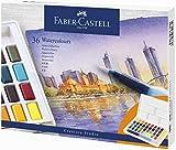 Faber Castell 36 colores de acuarela, incluye pincel para depósito de agua