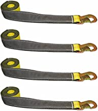 BA Products 38-3D-OEM-x4, Set of 4 Straps with Snap Hooks for Dynamic, Century, Vulcan Autoloader Wheel Lifts, Wreckers, Tow Trucks