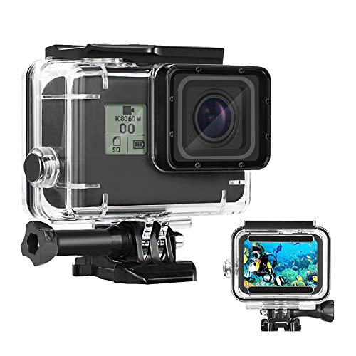 Waterproof Housing Case for GoPro Hero 7/6/5 Black(2018), 169FT/60M Waterproof Case Diving Protective Housing Shell for GoPro Action Camera Underwater Dive Case Shell with Mount & Thumbscrew