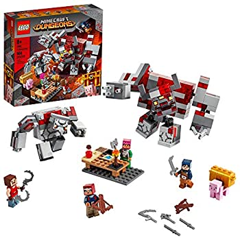 LEGO Minecraft The Redstone Battle 21163 Cool Minecraft Set for Kids Aged 8 and Up Great Birthday Gift for Minecraft Players and Fans of Monsters Dungeons and Battle Action  504 Pieces