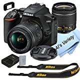 Nikon D3500 DSLR Camera Kit with 18-55mm VR Lens | Built-in Wi-Fi | 24.2 MP CMOS Sensor | EXPEED 4 Image Processor and Full HD 1080p Video Recording at 60 fps| SnapBridge Bluetooth Connectivity