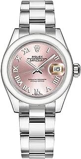 Women's Rolex Lady-Datejust 28 Pink Dial Oystersteel Luxury Watch (ref. 279160)